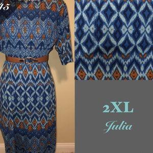 Lularoe Julia dress 2XL